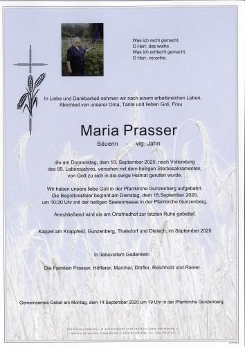 Maria Prasser   vlg. Jahn