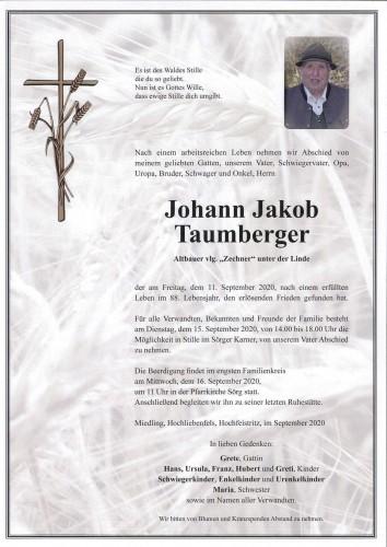 Johann Taumberger  vlg. Zechner