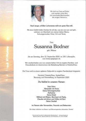 Susanna Bodner, geb. Mitterer