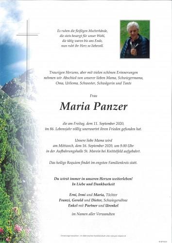 Maria Panzer