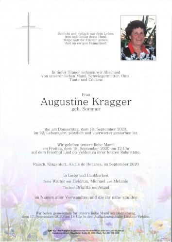Augustine Kragger, geb. Sommer