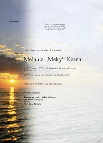 "Melania ""Meky"" Kesnar"