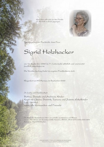 Sigrid Holzhacker