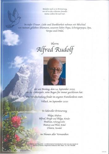 Alfred Rudolf