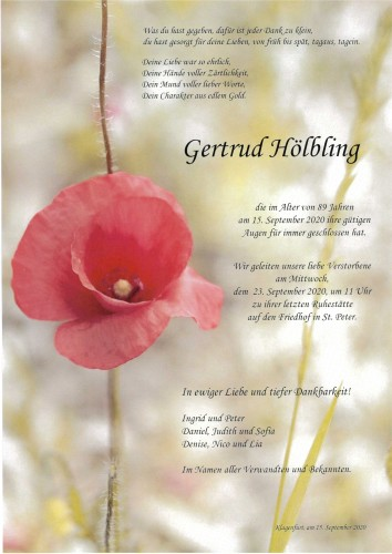 Gertrud Hölbling