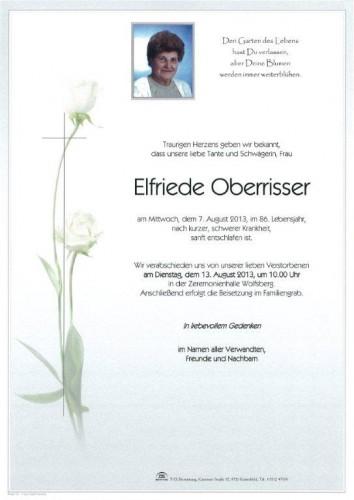 Elfriede Oberrisser
