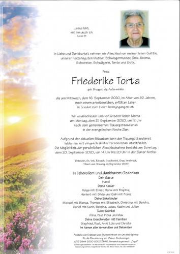 Friederike Torta, geb. Brugger, vlg. Außerwinkler