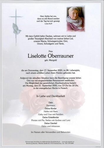 Liselotte Oberrauner, geb. Mangold