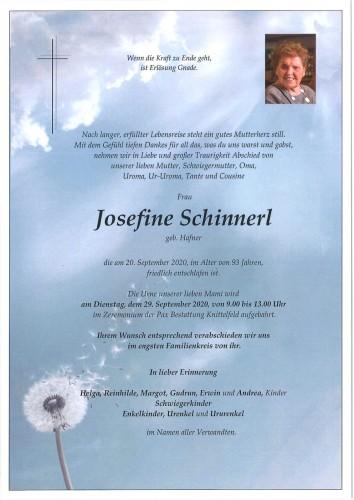 Josefine Schinnerl geb. Hafner