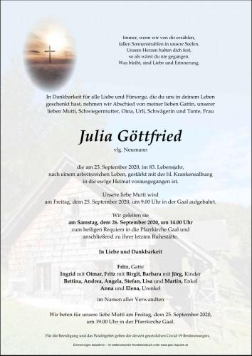 Julia Göttfried, vlg. Neumann