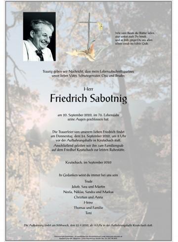 Friedrich Sabotnig