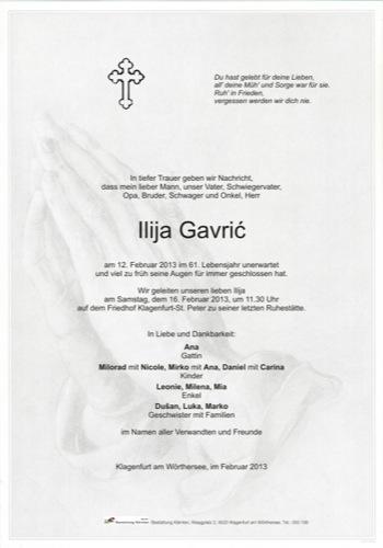 GAVRIC Ilija