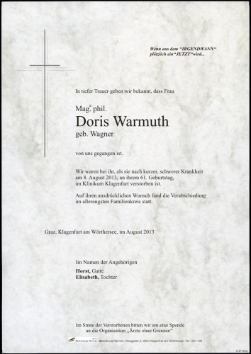 Mag.phil. Doris Warmuth