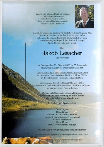 Jakob Lesacher, vlg. Neubauer
