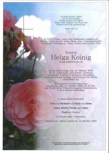 Schulrat Helga Eleonore Koinig