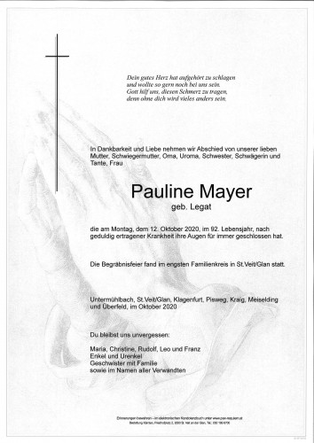 Pauline Mayer