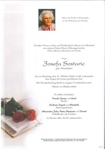 Josefa Sostaric geb. Schönfelder
