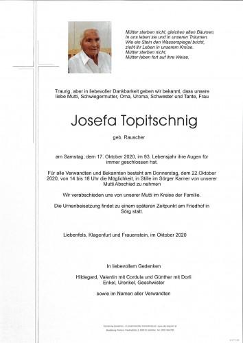 Josefa Topitschnig geb. Rauscher