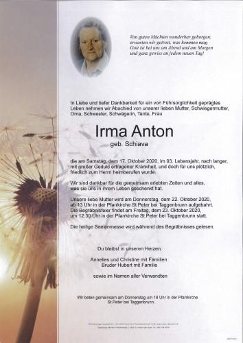 Irma Anton  geb. Schiava