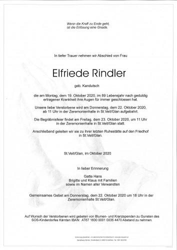 Elfriede Rindler  geb.Kandutsch