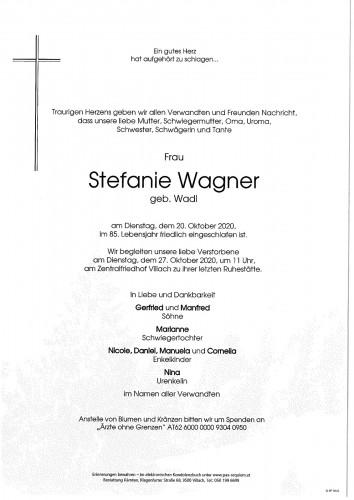 Stefanie Wagner geb. Wadl