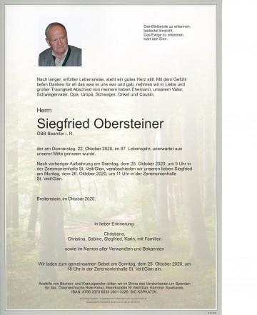 Siegfried Obersteiner