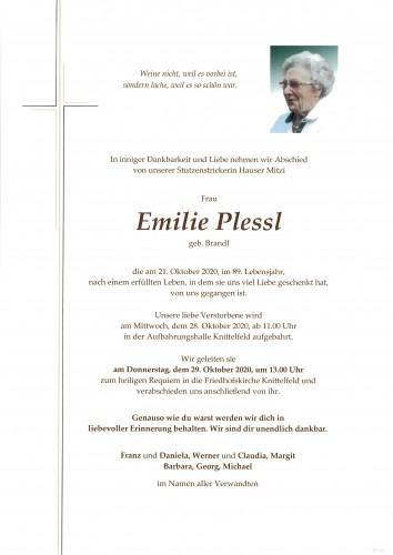 Emilie Plessl, Hauser Mitzi