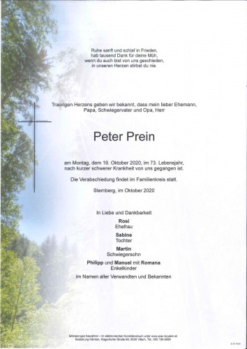 Peter Prein