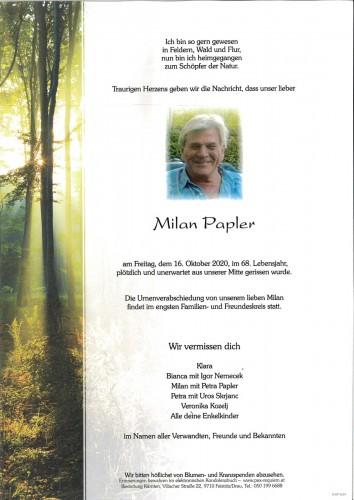 Milan Papler