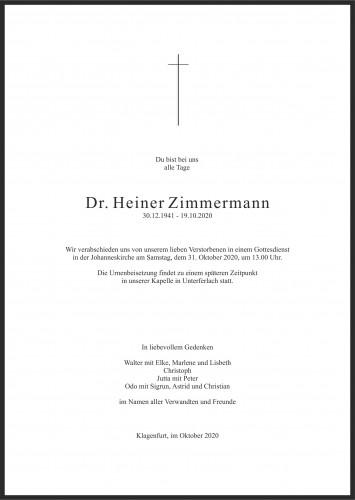 Dr. Heiner Zimmermann