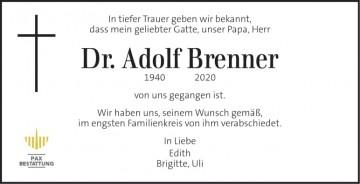 Dr. Adolf Brenner