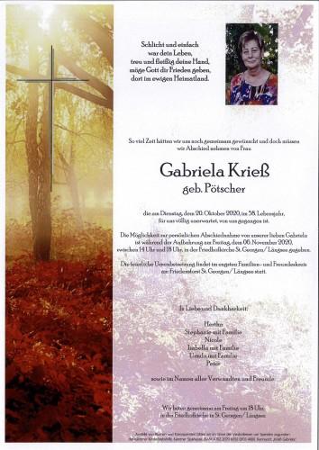 Gabriela Krieß  geb. Pötscher