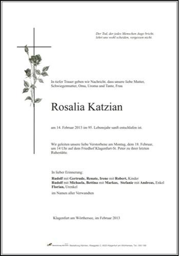 KATZIAN Rosalia