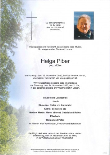 Helga Piber geb. Müller