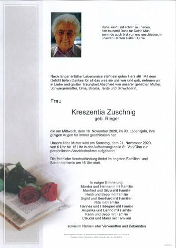 Kreszentia Zuschnig