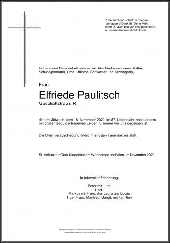Elfriede Paulitsch