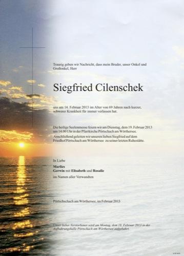 CILENSCHEK Siegfried