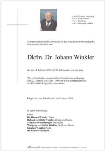 WINKLER Johann