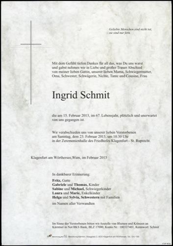 SCHMIT Ingrid