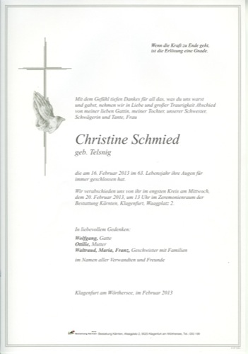 SCHMIED Christine