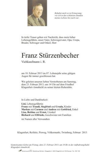 STÜRZENBECHER Franz