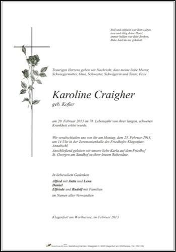 CRAIGHER  Karoline