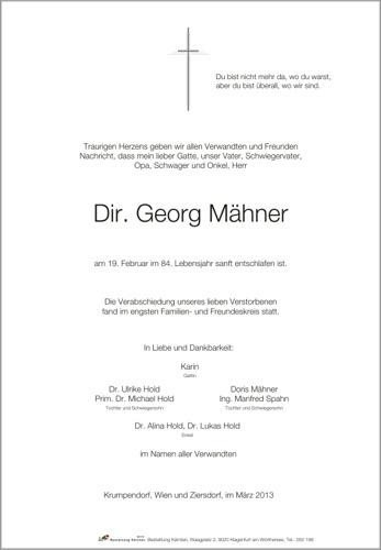 MÄHNER  Georg