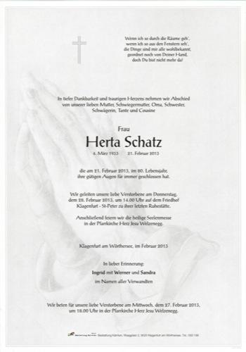 SCHATZ Herta Johanna