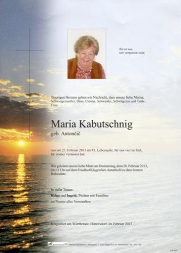 KABUTSCHNIG Maria