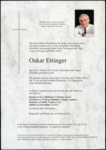 ETTINGER  Oskar