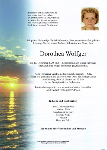 Dorothea Wolfger
