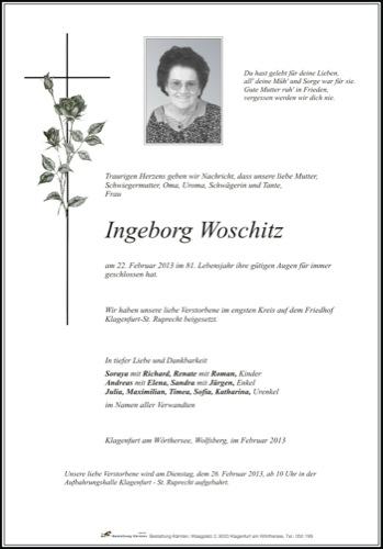 WOSCHITZ Ingeborg