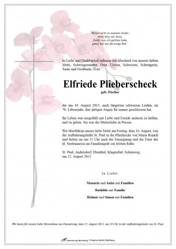 Elfriede Plieberschek
