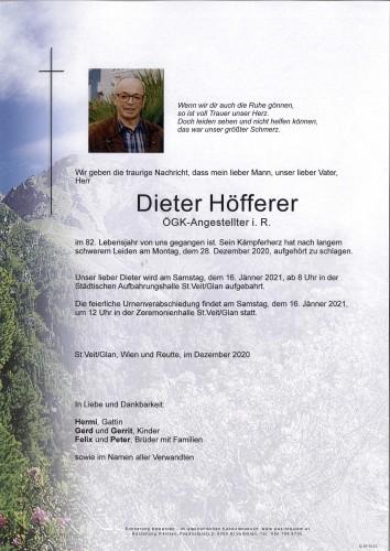 Dieter Höfferer